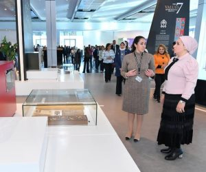 انتصار السيسى تشيد بمنتدى شباب العالم: قدم تصميماً متميزاً للمتحف الداخلى