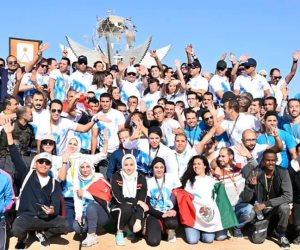 السيسى: سعدت بالمشاركة فى ماراثون يجمع بين مختلف شباب العالم