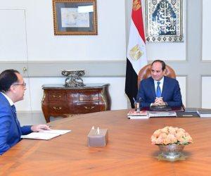 الرئيس السيسي يجتمع مع مصطفى مدبولي وإيناس عبد الدايم لاستعراض مجمل استراتيجية «الثقافة»