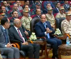 الرئيس السيسى من الفيوم: هدفنا ليل ونهار الحفاظ على دولتنا ومنعها من السقوط