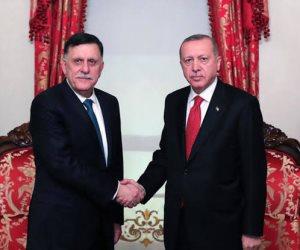 «علشان يبقى الكلام واحد».. الديكتاتور التركي يجتمع بالسراج قبل قمة برلين