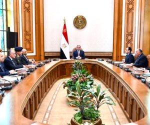 السيسى يجتمع بمجلس الأمن القومي ويحدد إجراءات لمواجهة تهديدات التدخل العسكرى فى ليبيا