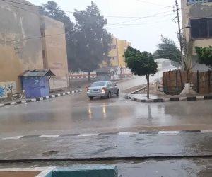 أمطار غزيرة مصحوبة بموجة باردة والمحافظة ترفع درجة الاستعداد بشمال سيناء ( صور)