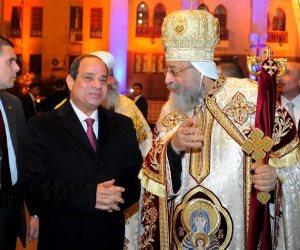 5 زيارات لـ«السيسي» للكاتدرائية.. الرئيس يخلق التلاحم الوطني ويعزز ثقافة المواطنة