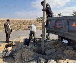 الرياح والأمطار تعم شمال سيناء.. والمحافظ يطالب بالابتعاد عن أعمدة الكهرباء