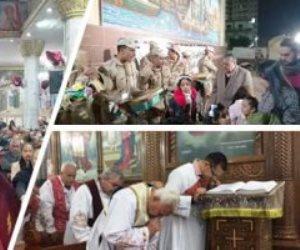 على الأرض السلام وبالناس المسرة.. كنائس مصر تستقبل عيد الميلاد المجيد (صور)