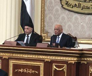 """""""عبد العال """" لرئيس البرلمان الليبي : أمن ليبيا القومي مرتبط بمصر"""
