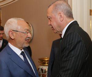 «كارت أحمر في برلمان تونس».. أردوغان يورط غنوشي الإخوان