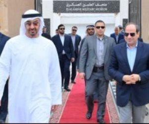 السيسى وبن زايد يتفقدان قرية التراث بمهرجان شرم الشيخ التراثى