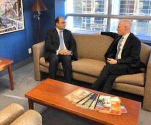 سفير مصر في كندا يلتقي مستشار الأمن القومي الكندي ويناقش التطورات في الشرق الأوسط