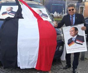 الجالية المصرية تنهي استعدادات استقبال السيسي في المانيا (صور)