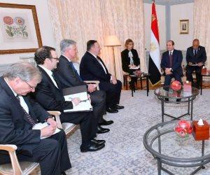 «السيسي» لـ«وزير الخارجية الأمريكي»: لا سبيل لتسوية الأزمة الليبية إلا من خلال حل شامل