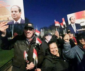 مصريون في برايتون يقطعون «ساعتين سفر» إلى لندن للمشاركة باحتفال الجالية باستقبال الرئيس