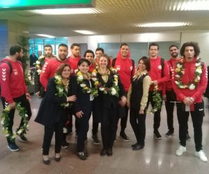 وصول بعثة منتخب مصر لكرة اليد الفائز ببطولة كأس الأمم الأفريقية قادما من تونس