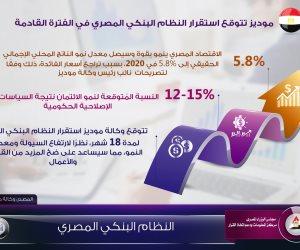 الاقتصاد المصري يحقق نموا 5.8% خلال 2020 (إنفوجراف)
