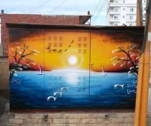 بإيد شبابها.. لوحات فنية تزين أكشاك الكهرباء بشوارع المحروسة (صور)