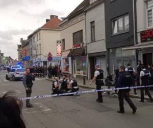 عملية طعن فى بلجيكا والشرطة تطلق النار على الجاني (صور)