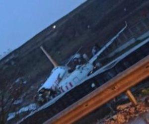 مصرع 5 أشخاص في تحطم الطائرة التركية بمطار اسطنبول (فيديو)