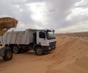 إنهاء فتح طريق حيوي يربط بين الإسماعيلية وقرى مركز الحسنة بوسط سيناء (صور)