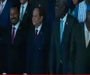 صورة جماعية للرئيس وقادة الدول الأفريقية المشاركة بقمة الاتحاد الأفريقى
