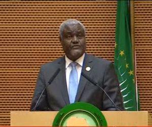رئيس مفوضية الاتحاد الأفريقى: السيسى قام بعمل عظيم خلال رئاسته للاتحاد