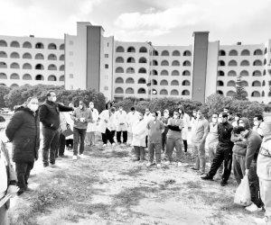 خاص.. تفاصيل الساعات الأخيرة داخل الحجر الصحي للعائدين من الصين بمعسكر «مرسى مطروح»
