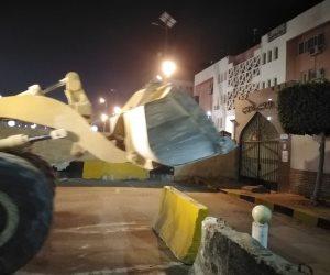 استجابة للمواطنين.. إزالة الحواجز الخرسانية بمحيط قسمي شرطة عين شمس والمقطم (صور )