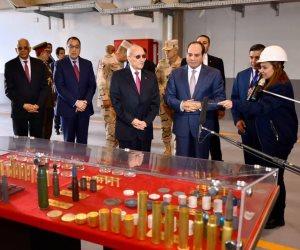 الرئيس السيسي يفتتح مصنع 300 الحربي بشركة أبو زعبل
