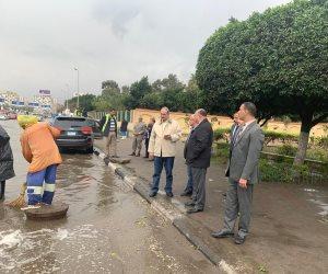 محافظ القاهرة يتابع شفط مياه الأمطار (فيديو)