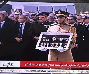 اللقطات الأخيرة لمراسم تشييع جثمان حسني مبارك بحضور رجال الدولة ومواطنين (صور)