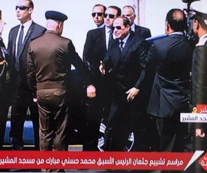 بدء المراسم الرسمية لتشييع جثمان الرئيس الأسبق حسني مبارك (صور)