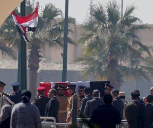 بث مباشر لمراسم جنازة الرئيس الأسبق حسني مبارك العسكرية من مسجد المشير