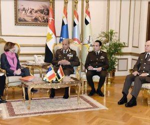 الفريق أول محمد زكي يلتقي وزيرة القوات المسلحة الفرنسية