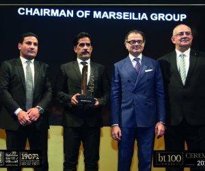 "bt100 تكرم شريف حليو رئيس مجلس إدارة ""مرسيليا"" كأحد أكبر المطورين العقاريين بمصر"