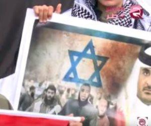 قذارته عرض مستمر.. تميم يواصل سياسة التطبيع مع تل أبيب