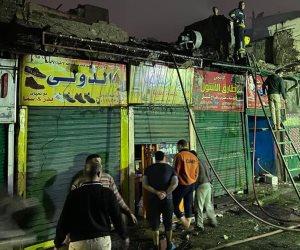 محافظ القاهرة يشكل لجنة هندسية لبيان أسباب حريق الدرب الأحمر