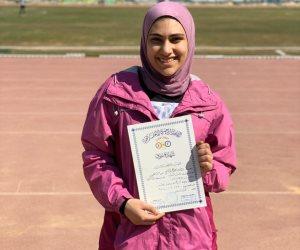 رولا هاشم طالبة طب جامعة مصر تتوج ببرونزية الجمهورية لألعاب القوى