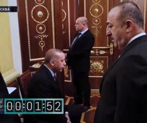 إهانة الدكتاتور على أعتاب بوتين.. أول رد من أردوغان على فيديو «الانتظار المريرة»