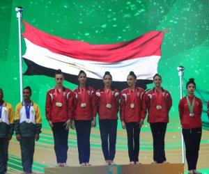 منتخب الجمباز الإيقاعى يتأهل إلى أولمبياد طوكيو بعد الفوز بذهبية البطولة الأفريقية