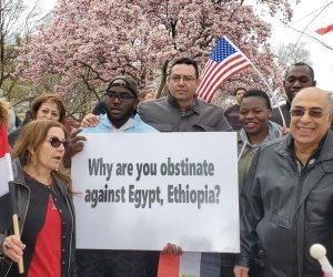 الجالية تؤكد في وقفة تضامنية أمام البيت الأبيض أهمية الحفاظ على حقوق مصر المائية