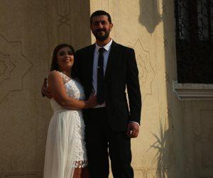 آخر«جوازة» قبل غلق قاعات الأفراح.. هبة وعلي قصة حب عمرها 4 أيام تحدت كورونا والسيول (صور)