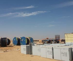 تنفيذ أعمال شبكة الكهرباء المغذية لقطع الأراضي المميزة بمدينة السادات