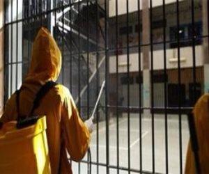 شاهد.. لحظة تعقيم السجون المصرية لمنع انتشار فيروس كورونا