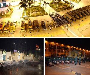 القوات المسلحة تنفذ عمليات تعقيم لميدان رمسيس ومحطة القطارات (فيديو)