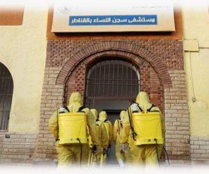 لحماية المترددين عليها من تداعيات كورونا.. الداخلية تعقم السجون وأقسام الشرطة (صور)