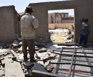 جهاز مدينة الشيخ زايد يشن حملة مكبرة لإزالة مخالفات البناء بالمدينة