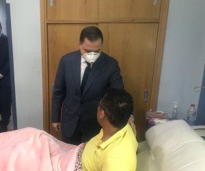 وزير الداخلية يزور المصابين أبطال اشتباكات الأميرية (صور)