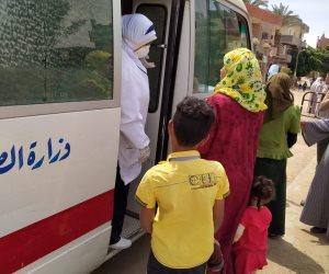 بعد ظهور حالات بقرية منشأة نيازي بالمنيا.. طوارئ ومتابعات دورية وعزل للأهالي