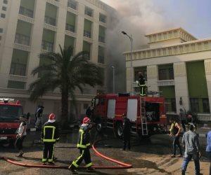 السيطرة على حريق بمستشفى أكاديمية الشرطة بالقاهرة الجديدة (صور)