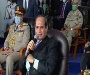 الرئيس السيسى: نفذنا الأنفاق بأيادٍ ومعدات مصرية..ومفيش صعب بالإرادة والعلم